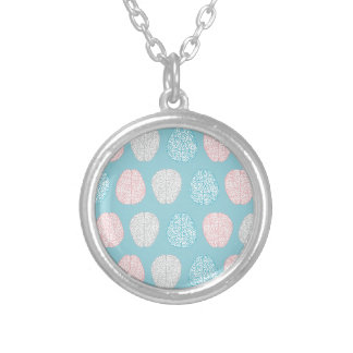 Brainy Pastel Pattern Silver Plated Necklace