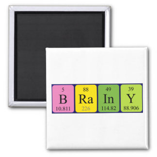 Brainy periodic table name magnet