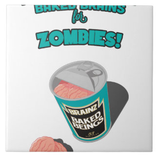 Brainz - Baked Beings Brains for Zombies Ceramic Tile