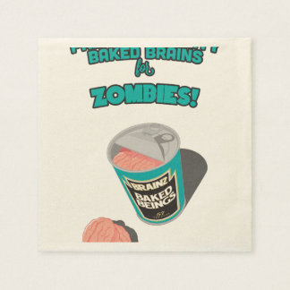 Brainz - Baked Beings Brains for Zombies Disposable Napkins