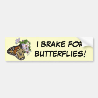 Brake for Butterflies Bumper Sticker