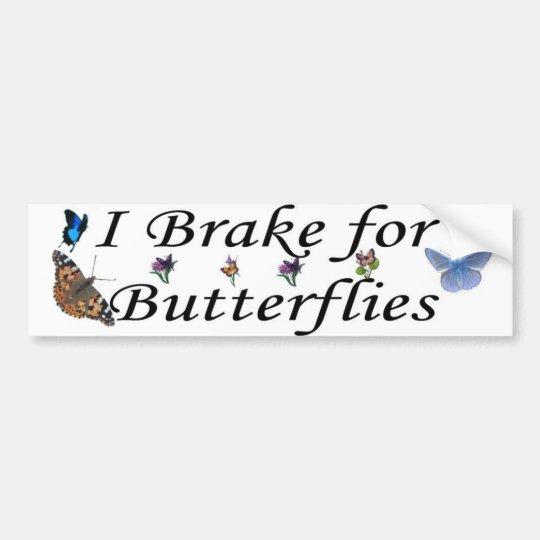 brake for butterflies bumper sticker
