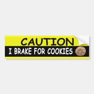 Brake For COOKIES Bumper Sticker