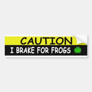 Brake For  FROGS Bumper Sticker