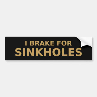 Brake For Sinkholes Bumper Sticker