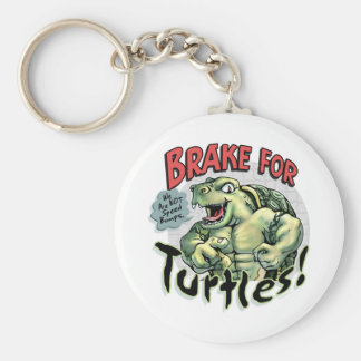 Brake for Turtles by Mudge Studios Keychain