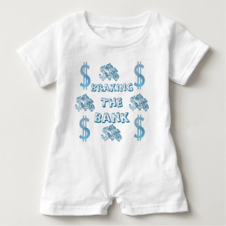Braking The Bank Baby Romper