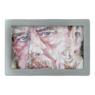BRAM STOKER - watercolor portrait Belt Buckle