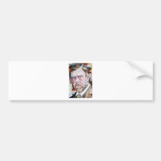 BRAM STOKER - watercolor portrait Bumper Sticker