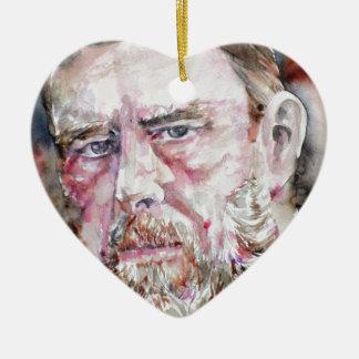 BRAM STOKER - watercolor portrait Ceramic Ornament
