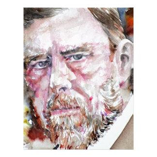BRAM STOKER - watercolor portrait Letterhead