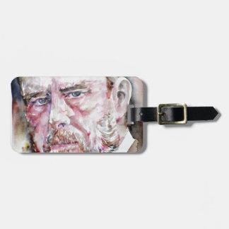 BRAM STOKER - watercolor portrait Luggage Tag