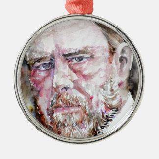 BRAM STOKER - watercolor portrait Metal Ornament