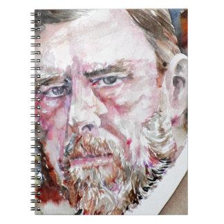 BRAM STOKER - watercolor portrait Notebook