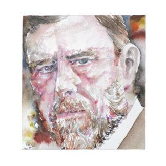 BRAM STOKER - watercolor portrait Notepad