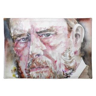 BRAM STOKER - watercolor portrait Placemat