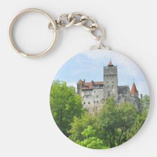 Bran castle, Romania Basic Round Button Keychain