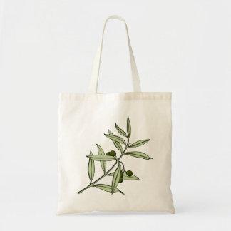 Branch of olive olive twig tote bag