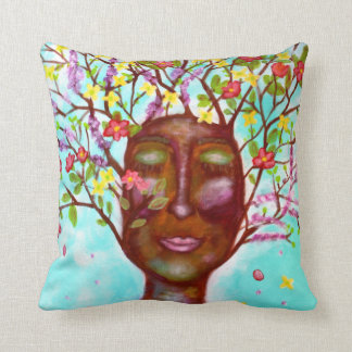 Branch Out & Blossom Art Throw Pillow