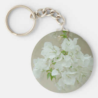 Branch with white flowers keychain