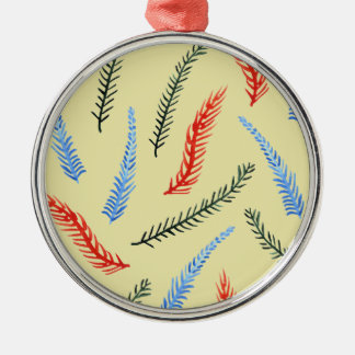 Branches 8 oz Vinyl Wrapped Flask Metal Ornament