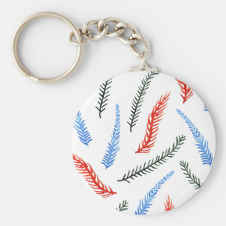 Branches Basic Button Keychain
