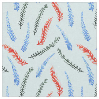 Branches Combed Cotton Fabric