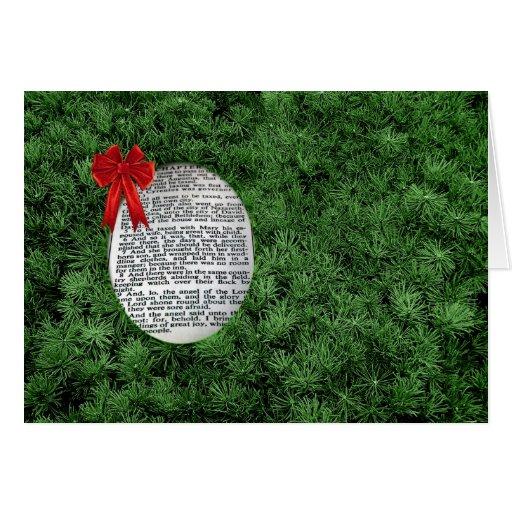 Branches de Noël et naissance de Jésus Cartes