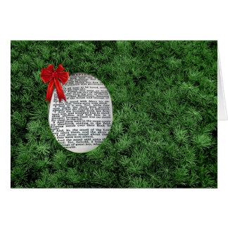 Branches de Noël et naissance de Jésus Carte De Vœux