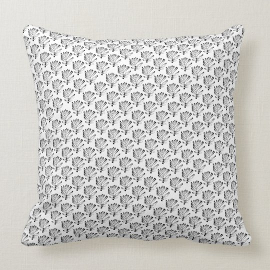 Branches flowers flowers throw pillow