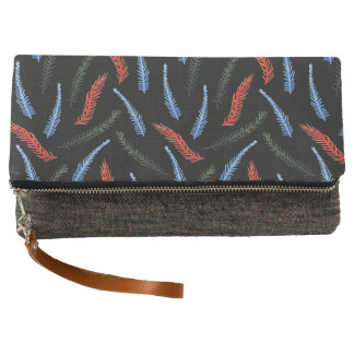 Branches Fold-Over Clutch