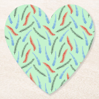 Branches Heart Coaster