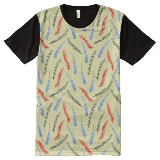 Branches Men's All-Over Print Panel T-Shirt