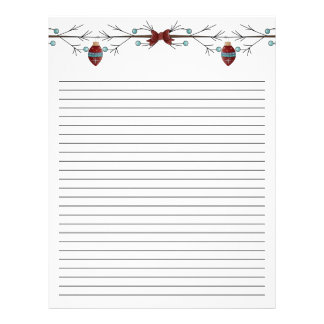 Branches N Bows (Lined) Letterhead
