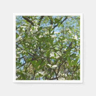 Branches of Dogwood Blossoms Spring Trees Disposable Napkin