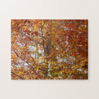 Branches of Orange Leaves Autumn Nature Jigsaw Puzzle