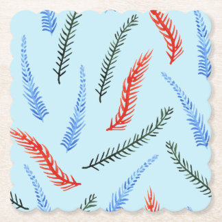 Branches Scalloped Square Coaster
