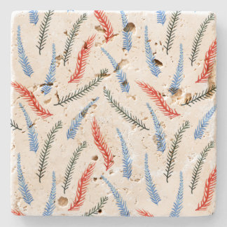 Branches Travertine Coaster