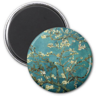 Branches with Almond Blossom by Vincent Van Gogh 2 Inch Round Magnet