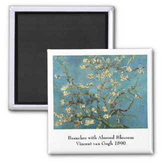 Branches with Almond Blossom by Vincent van Gogh Magnet