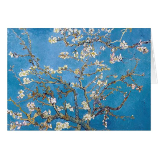Branches with Almond Blossom Van Gogh painting Greeting Cards