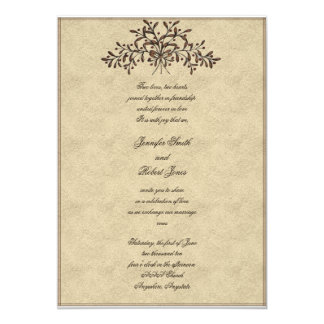 Branches with Red Olives Wedding Invitation