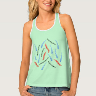Branches Women's Racerback All-Over Print Tank Top