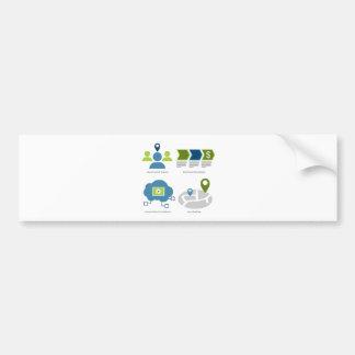 Brand management icon set bumper sticker