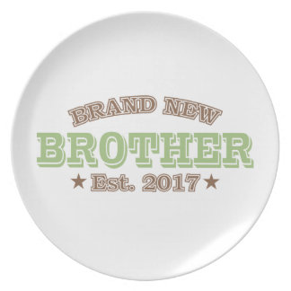 Brand New Brother Est. 2017 (Green) Dinner Plate