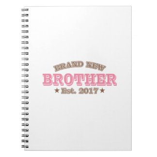 Brand New Brother Est. 2017 (Pink) Spiral Note Books