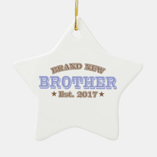 Brand New Brother Est. 2017 (Purple) Ceramic Star Ornament