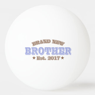 Brand New Brother Est. 2017 (Purple) Ping Pong Ball