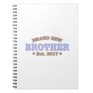 Brand New Brother Est. 2017 (Purple) Spiral Notebook