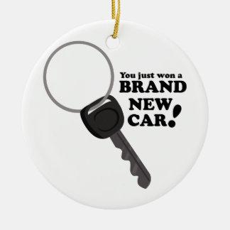 Brand New Car Round Ceramic Ornament